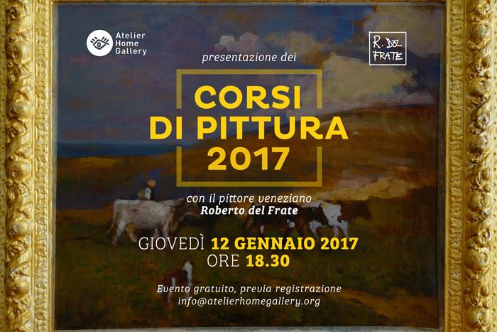 Pittura a Trieste | Corsi con il Maestro Roberto del Frate | Atelier Home Gallery